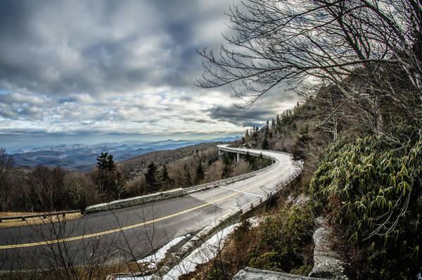Photograph - Linn Cove Viaduct During Winter Near Blowing Rock Nc by Alex Grichenko