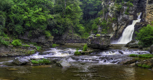 Photograph - Linville Falls Hdr Panorama by Jim Dollar