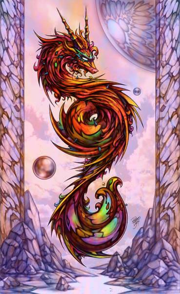 Wall Art - Digital Art - Lion Dragon by David Bollt