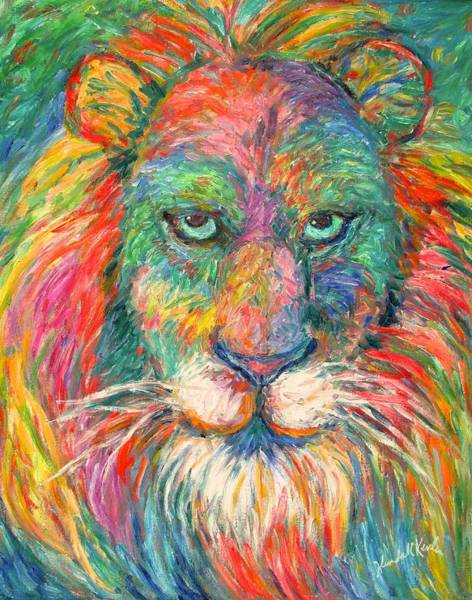 Painting - Lion Explosion by Kendall Kessler