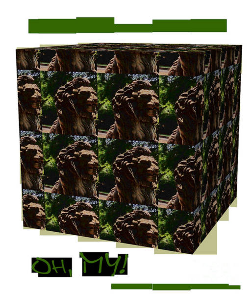 Wall Art - Digital Art - Lion In The Park by Karen Francis