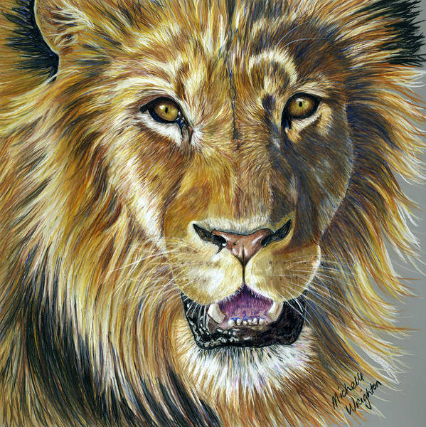 Colored Pencil Drawings Painting - Lion King by Michelle Wrighton