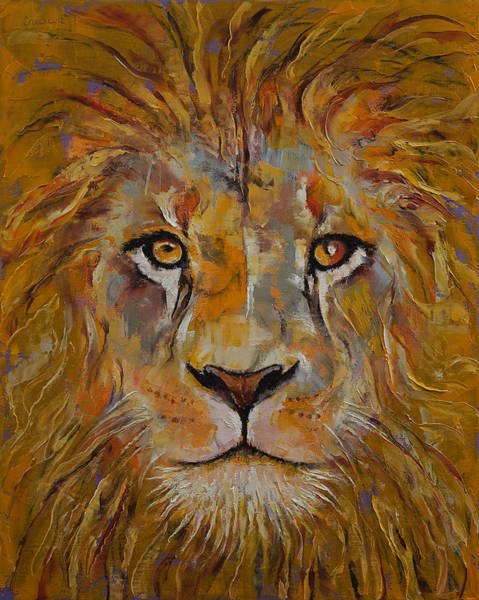Wall Art - Painting - Lion by Michael Creese