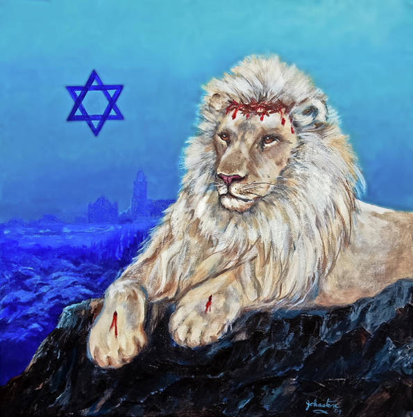 Wall Art - Painting - Lion Of Judah - Jerusalem by Bob and Nadine Johnston