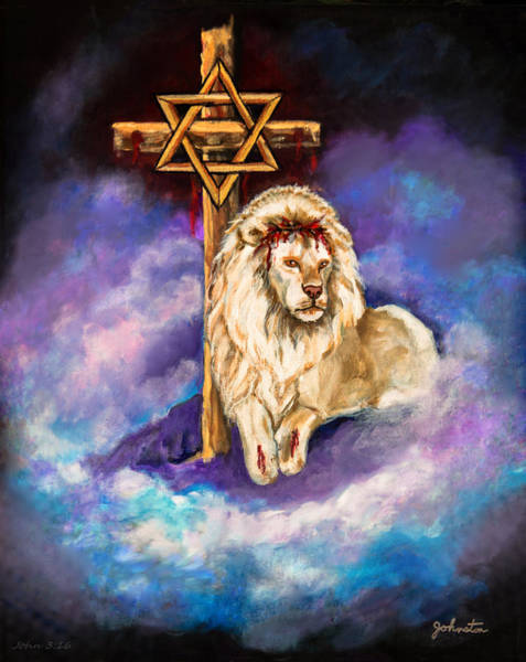 Wall Art - Painting - Lion Of Judah Original Painting Forsale by Nadine Johnston