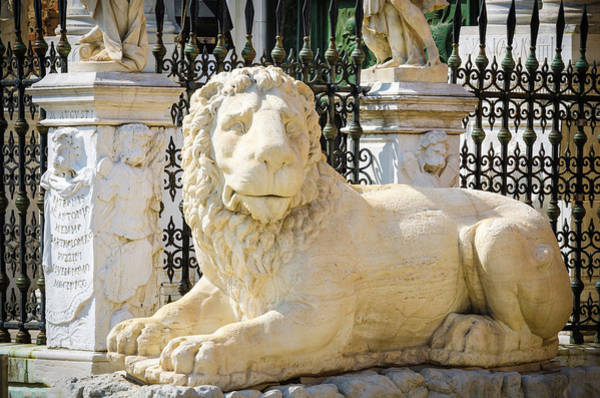 Wall Art - Photograph - Lion Statue At The Entrance by Russ Bishop