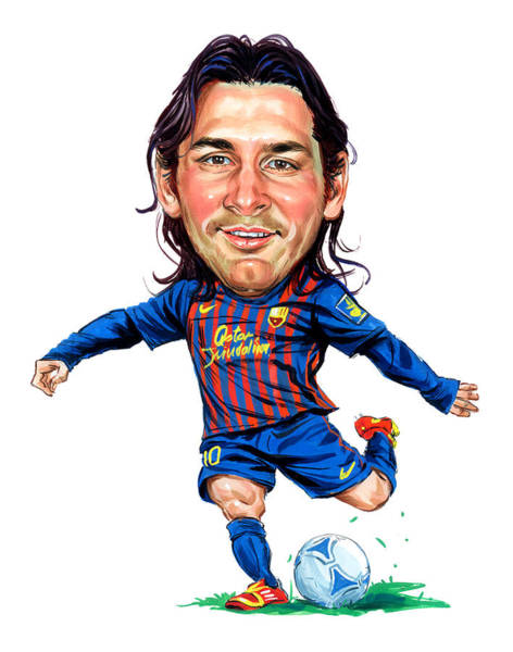 Wall Art - Painting - Lionel Messi by Art