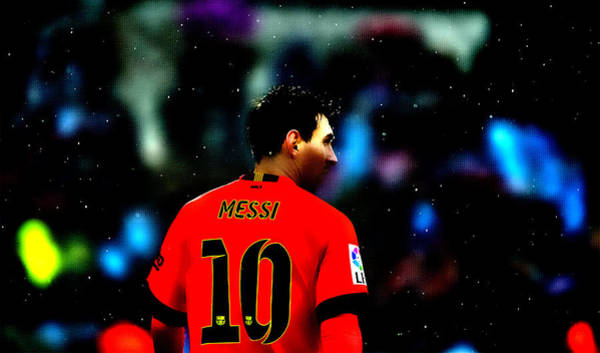 Manchester United Fc Wall Art - Digital Art - Lionel Messi Ready To Go by Brian Reaves