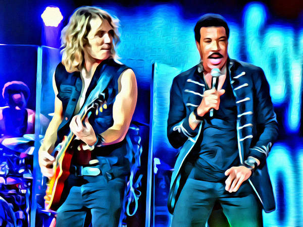 Photograph - Lionel Ritchie And His Guitarist by Alice Gipson