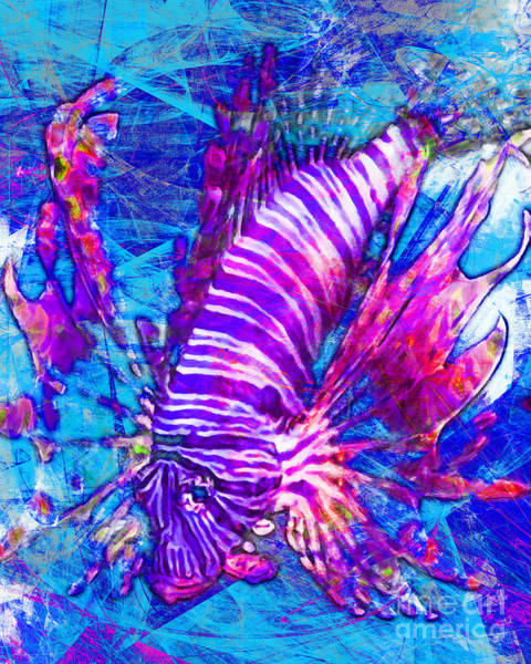 Photograph - Lionfish In Living Color 5d24143mp168p88 by Wingsdomain Art and Photography