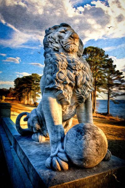 Lion Statue Photograph - Lion's Bridge by Williams-Cairns Photography LLC