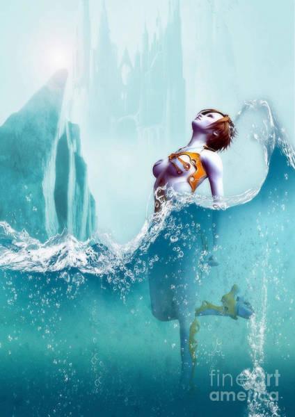 Liquid Fantasy Art Print by Sandra Bauser Digital Art