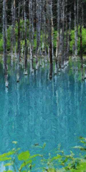 Liquid Forest Art Print