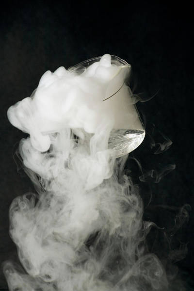 Pouring Photograph - Liquid Nitrogen Being Poured From Beaker by David Taylor/science Photo Library