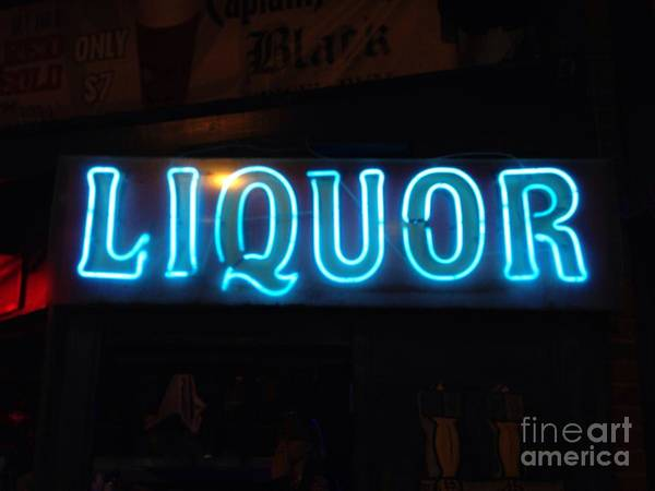 Photograph - Liquor Sign In Memphis by T Lowry Wilson