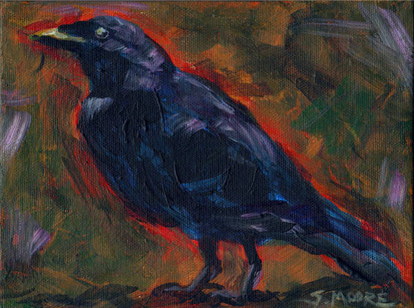 Painting - Lisa's Blackbird by Susan Moore