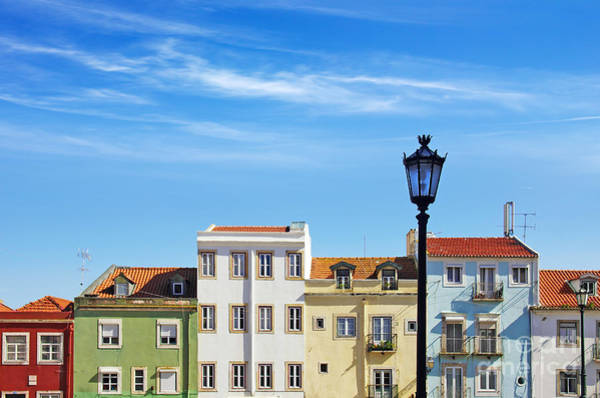 Ancient Architecture Photograph - Lisbon Houses by Carlos Caetano
