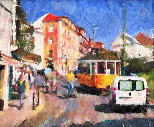 Lisbon Digital Art - Lisbon Morning Traffic by Yury Malkov