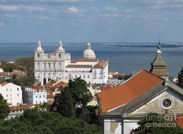 Vasco Da Gama Bridge Wall Art - Photograph - Lisbon Panoramic View Toward The Vasco Da Gama Bridge by Kiril Stanchev