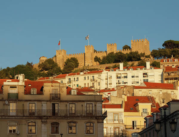 Lisbon Castle Photograph - Lisbon, Portugal. Castle From Praca Da by Ken Welsh