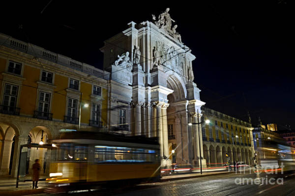 Photograph - Lisbon - Portugal - Street Cars At Praca Do Comercio Or Terreiro by Carlos Alkmin