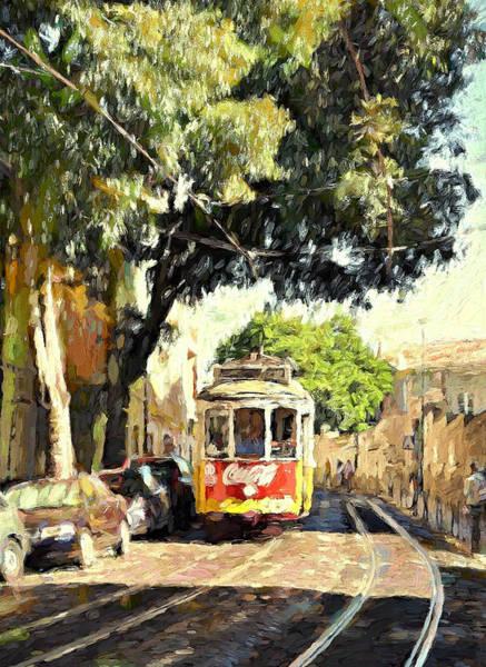Lisbon Digital Art - Lisbon Tram by Yury Malkov