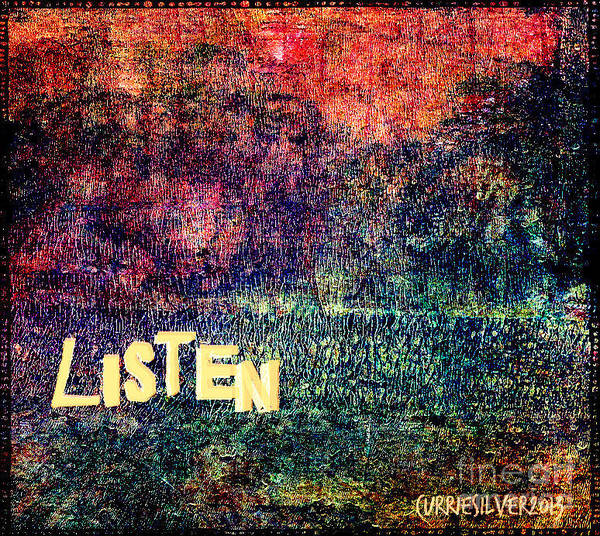 Wall Art - Digital Art - Listen by Currie Silver