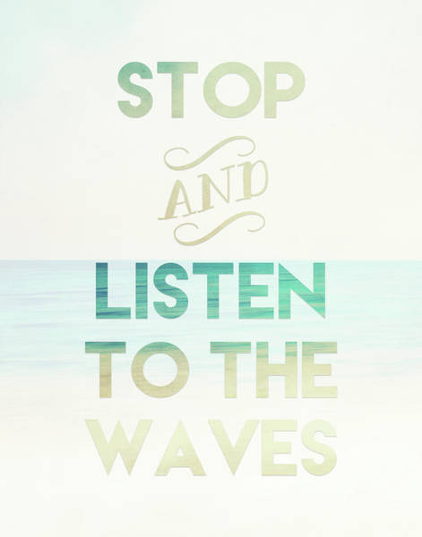Wave Wall Art - Painting - Listen To The Waves by Tara Moss