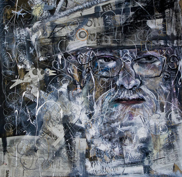 Painting - Listening by Maxim Komissarchik
