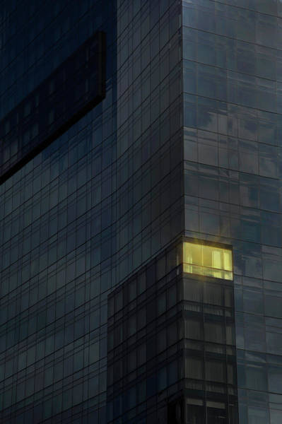 Determination Photograph - Lit Office In A Dark Building by Buena Vista Images