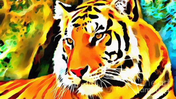 Painting - Lit Tiger by Catherine Lott