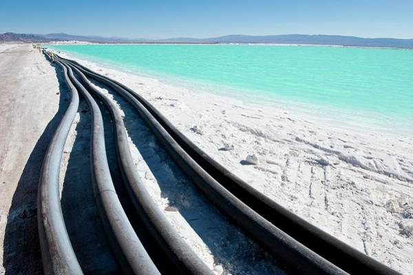 Wall Art - Photograph - Lithium Evaporation Pond Pipes by Philippe Psaila/science Photo Library