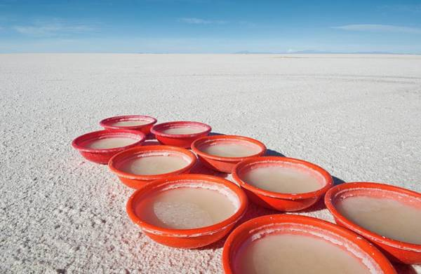 Bucket Photograph - Lithium Evaporation Test by Philippe Psaila/science Photo Library