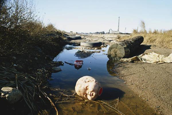 Doll Parts Photograph - Litter Near Fresh Kills Landfill by Ray Ellis