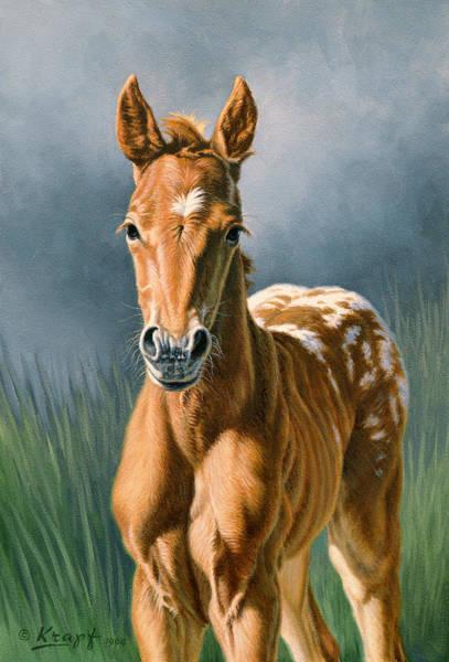 Foal Wall Art - Painting - Little Appy by Paul Krapf