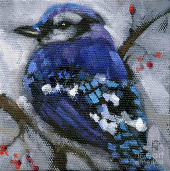 Painting - Sold Little Bird Come Sit Upon My Window Sill by Nancy  Parsons