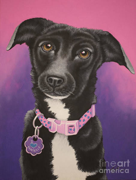 Painting - Little Black Dog by Tish Wynne