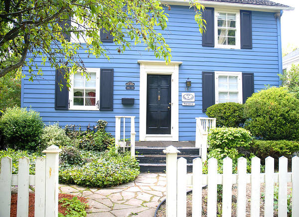 Photograph - Little Blue House by Brenda Kean