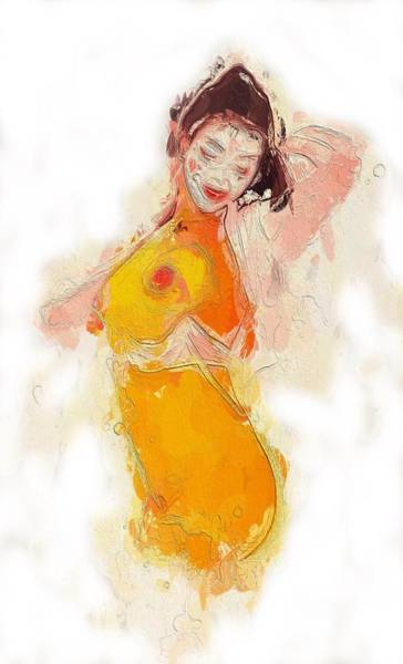 Chinese Girl Painting - Little China Girl by Steve K