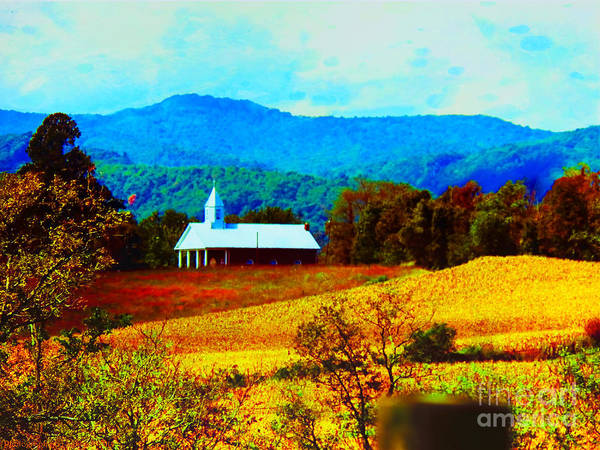 Little Church In The Mountains Of Wv Art Print