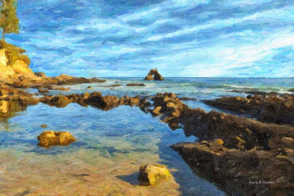 Wall Art - Painting - Little Corona Beach by Angela Stanton
