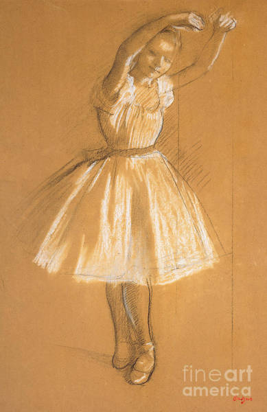 Dancers Wall Art - Drawing - Little Dancer by Edgar Degas