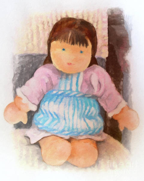 Painting - Little Doll by Lutz Baar