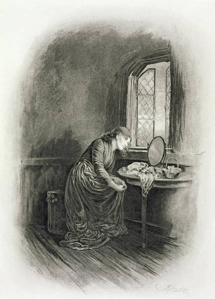 Window Dressing Wall Art - Drawing - Little Dorrit, From Charles Dickens A by Frederick Barnard