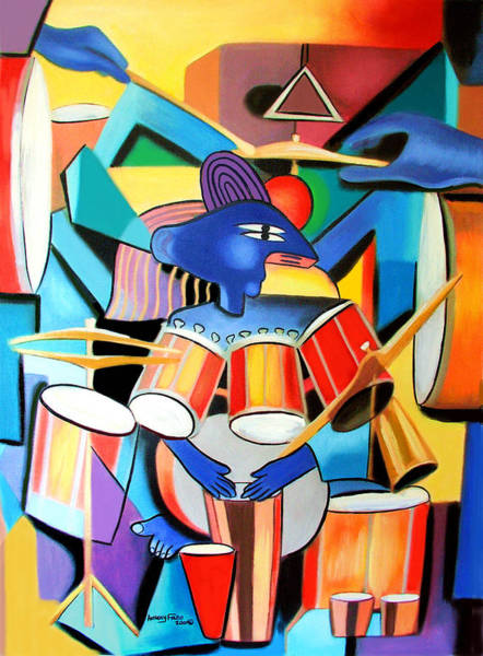 Drummer Painting - Little Drummer Boy by Anthony Falbo