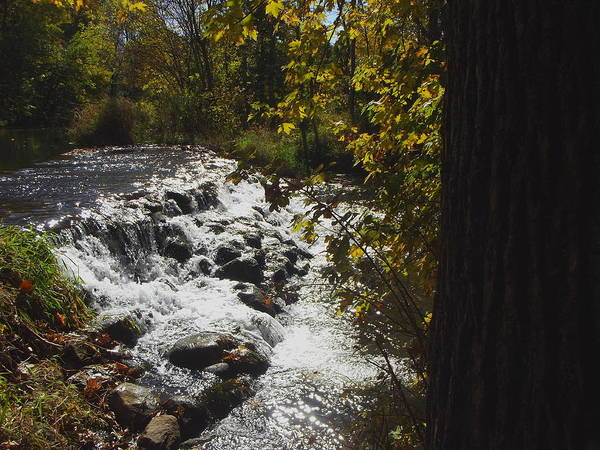 Bonneyville Mill Wall Art - Photograph - Little Elkhart River Waterfall - Indiana by Rory Cubel