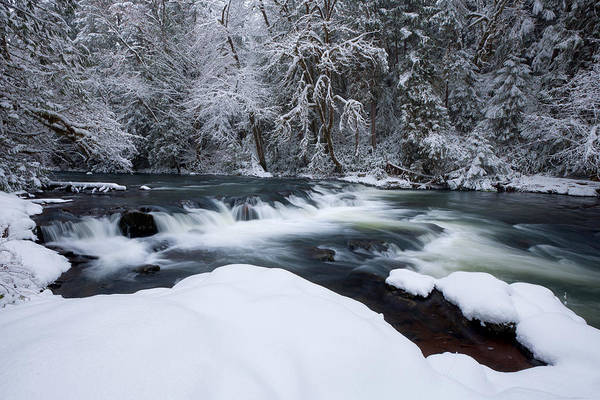 Photograph - Little Fall Creek Winter by Andrew Kumler