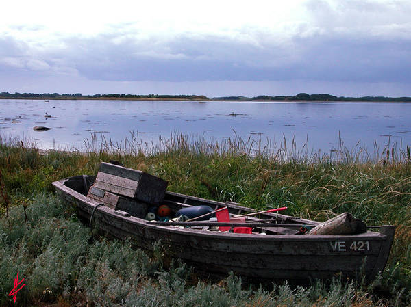 Photograph - Little Fish Boat Samsoe Island by Colette V Hera  Guggenheim