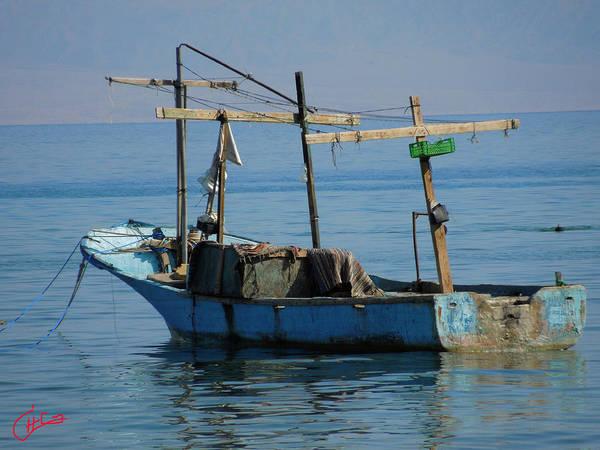 Photograph - Little Fishingboat Nuweiba Beach Sinai Egypt by Colette V Hera  Guggenheim