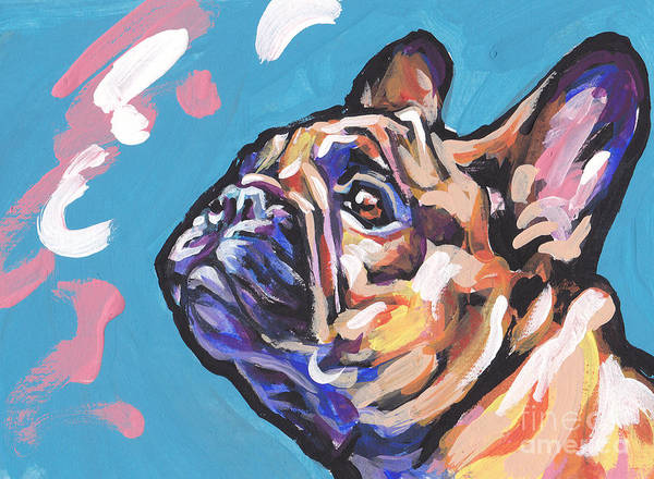 French Bulldog Painting - Little French Fry by Lea S